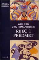 RIJEČ I PREDMET - willard van orman quine