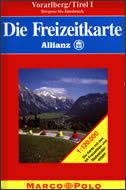 VORARLBERG / TIROL I - Auto karta ( Bregenz bis Innsbruck )