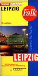 LEIPZIG - Stadtplan (mit Schkeuditz, Taucha, Markkleeberg)