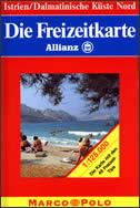 ISTRIEN / DALMATINISCHE KUSTENORD - Autokarta 1:125.000