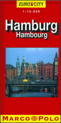 HAMBURG Euro city - Stadtplan ( 1:20.000 )