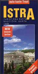 ISTRA - auto / turistička / nautička karta + planovi gradova