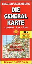 BELGIEN, LUXEMBURG - Die general karte