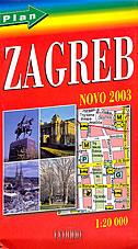 ZAGREB - plan grada 2003 (1:20 000)