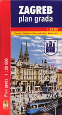 ZAGREB - plan grada 1:20 000
