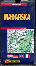MAĐARSKA - auto karta 1:450 000