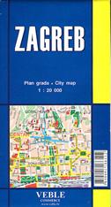 ZAGREB - plan grada (1:20 000)