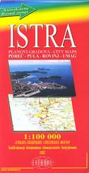 ISTRA - autokarta / planovi gradova Poreč - Pula - Rovinj - Umag (1:100 000)
