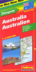 AUSTRALIA / AUSTRALIEN - road map / strassenkarte (1:4 000 000)