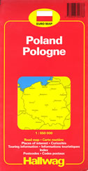 POLAND / POLEN - road map / strassenkarte