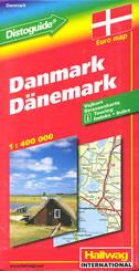 DANMARK / DANEMARK - road map / strassenkarte