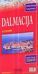 DALMACIJA 2004./05. - autokarta (1:200 000)