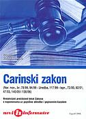 CARINSKI ZAKON (Nar. nov., br. 78/99, 94/99) - željko (prir.) dominis