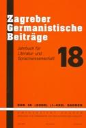 ZAGREBER GERMANISTISCHE BEITRAEGE - marijan bobinac
