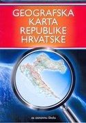 GEOGRAFSKA KARTA REPUBLIKE HRVATSKE  - za osnovnu školu