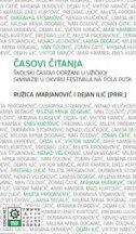ČASOVI ČITANJA - ružica (pr.) marjanović, dejan (pr.) ilić