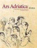 ARS ADRIATICA 4/2014. - Časopis Odjela za povijest umjetnosti Sveučilišta u Zadru - laris, gl. ur. borić