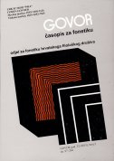 GOVOR - Časopis za fonetiku 32(2) 2015