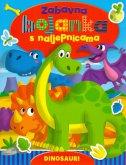 ZABAVNA BOJANKA S NALJEPNICAMA - Dinosauri
