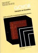 GOVOR - Časopis za fonetiku 34 (2) /2017.