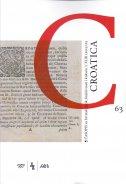 CROATICA 63 - časopis za hrvatski jezik, književnost i kulturu - grupa autora