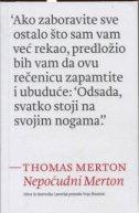 NEPOĆUDNI MERTON - izbor iz dnevnika i poezije Thomasa Mertona - vojo (ur.) šindolić